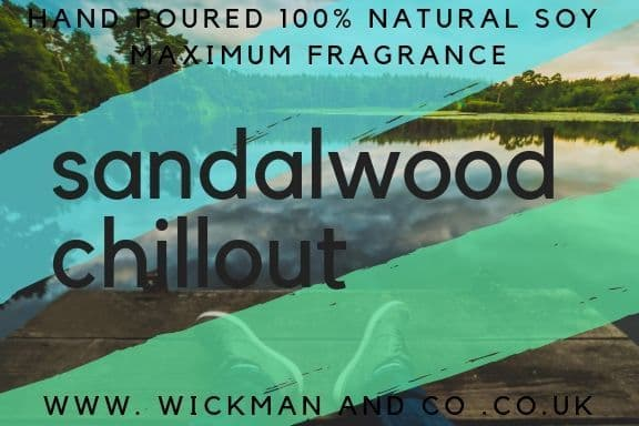 Sandalwood Chillout Soy Wax Candle